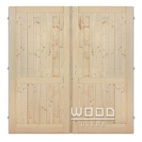Palubkové dveře dvoukřídlé 145 cm plné s příčkou