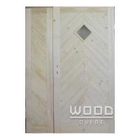 Palubkové dveře dvoukřídlé 125 cm Koso stromeček
