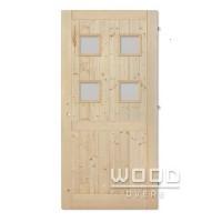 Palubkové dveře s příčkou Quatro sklo