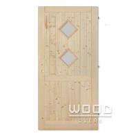 Palubkové dveře s příčkou koso duo