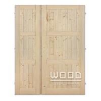 Palubkové dveře dvoukřídlé 125 cm Derde