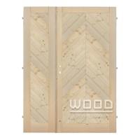 Palubkové dveře dvoukřídlé 125 cm šikmé stromeček