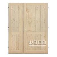 Palubkové dveře dvoukřídlé 125 cm plné s příčkou