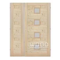 Palubkové dveře dvoukřídlé 125 cm Quatro vodorovné střed