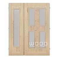 Palubkové dveře dvoukřídlé 125 cm sklo dlouhé C