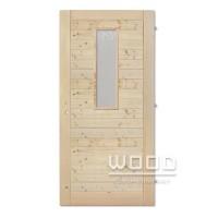Palubkové dveře vodorovné se sklem střed 20x80