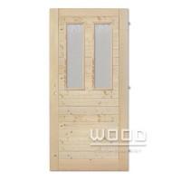 Palubkové dveře vodorovné 2x sklo