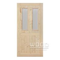 Palubkové dveře 2x sklo s příčkou